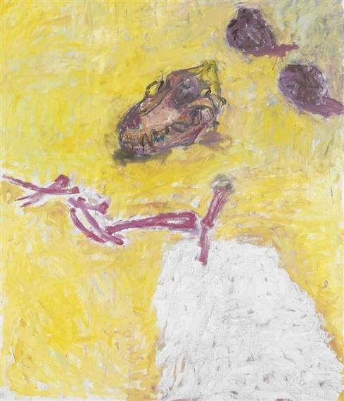 Skull Rocks Bones, 1994 - Susan Rothenberg