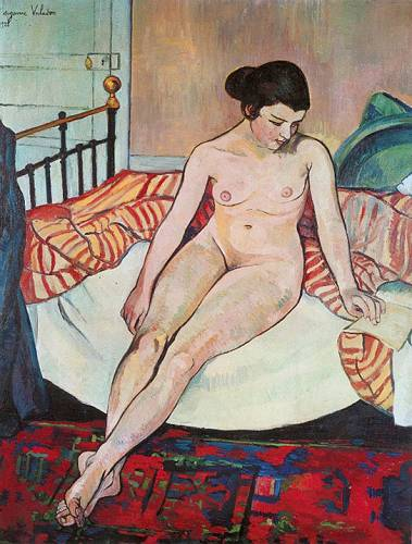 Nude with a Striped Blanket, 1922 - Suzanne Valadon