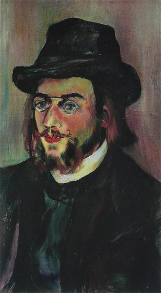 Portrait of Erik Satie, c.1892 - Suzanne Valadon