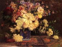 Still Life with Peonies - T. C. Steele