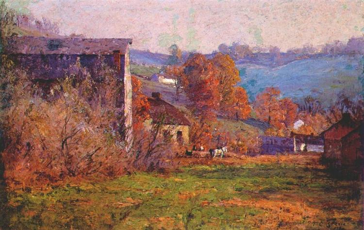 The Old Mills, 1903 - T. C. Steele