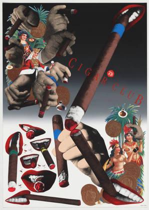 Cigar Club, 1997 - Tadanori Yokoo
