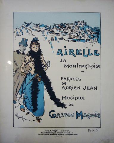 Airelle  La Montmartroise, 1890 - Theophile Steinlen