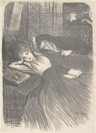 Baiser d'Amants, 1902 - Theophile Steinlen