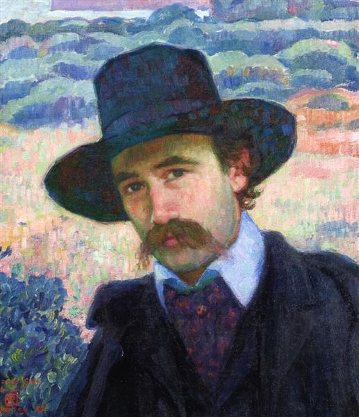 Andre Gide at Jersey, 1907 - Theo van Rysselberghe