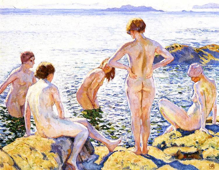 Bathers, c.1920 - Theo van Rysselberghe
