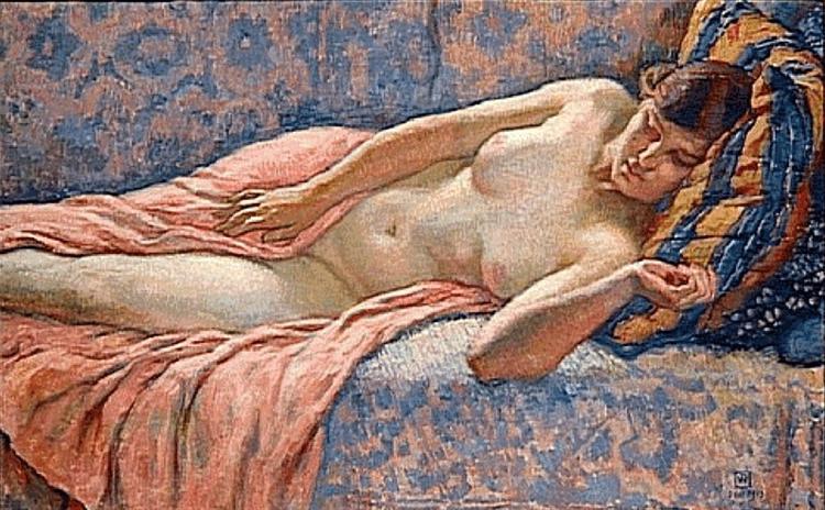 Etude of Female Nude, 1914 - Theo van Rysselberghe