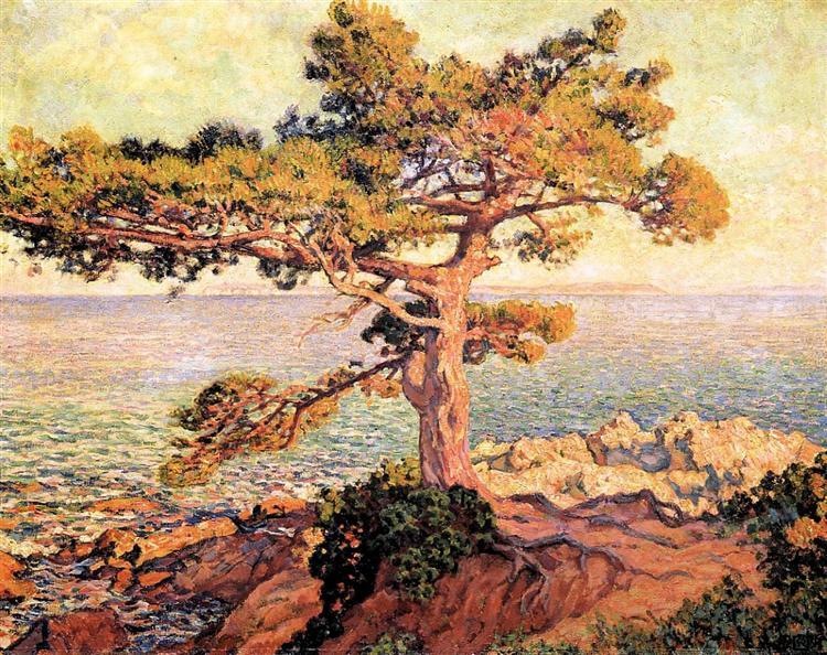 Pine by the Mediterranean Sea, 1916 - Theo van Rysselberghe