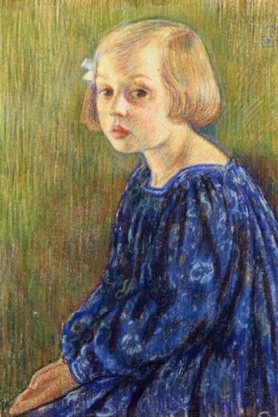 Portrait of Elizabeth van Rysselberghe, 1896 - Theo van Rysselberghe
