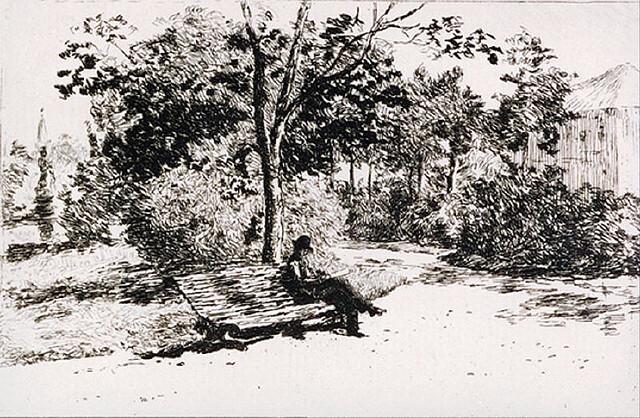 Reading in the Cismigiu Garden, 1879 - Theodor Aman