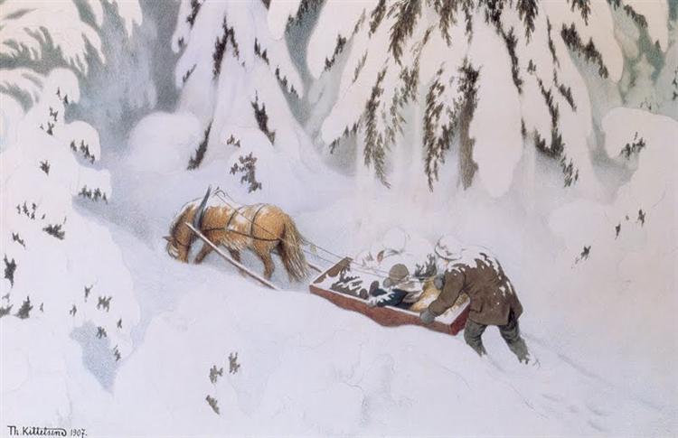 Christmas troll - Theodor Severin Kittelsen