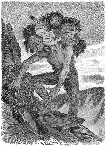 Det Doeende Bergtrollet, 1892 - Theodor Severin Kittelsen