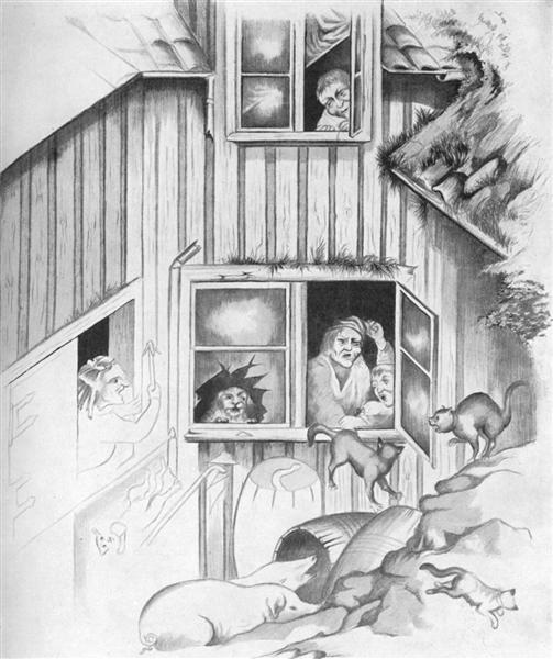 En Avbrytelse Av Kattemusik - Theodor Severin Kittelsen