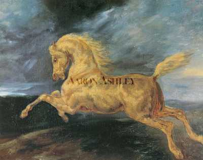 Horse frightened by lightning, 1810 - 1812 - Théodore Géricault