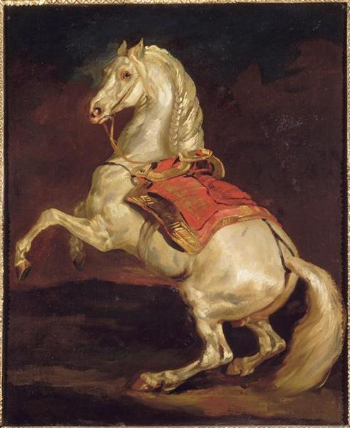 Napoleon's Stallion, Tamerlan - Théodore Géricault