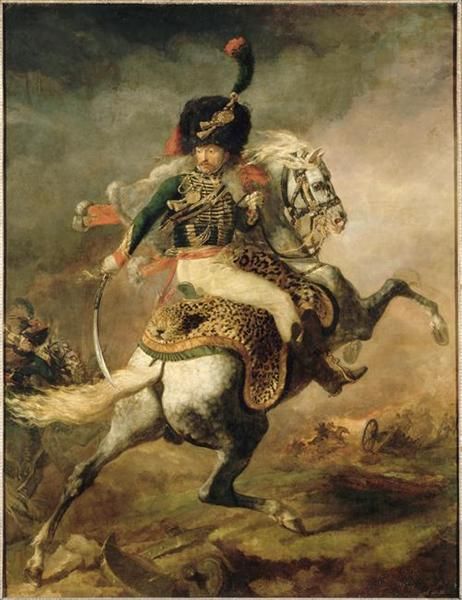 Officer of the Chasseurs charging on horseback (Charging Chasseur), 1812 - Théodore Géricault