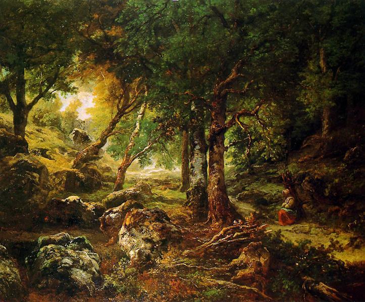 Forest landscape Sun, 1850 - Theodore Rousseau