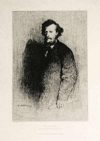Alfred Cadart, Founder of the Societe des Aqua-Fortistes, 1870 - Theodule Ribot