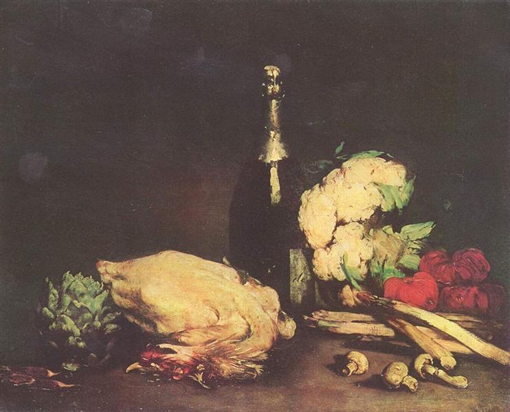 Stilleben, 1865 - Theodule Ribot