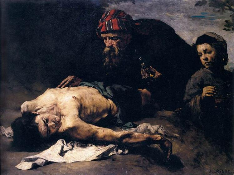 The Good Samaritan - Theodule Ribot