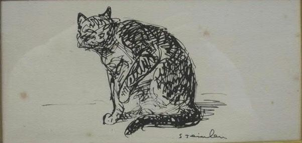 Cat  Binoche - Theophile Steinlen