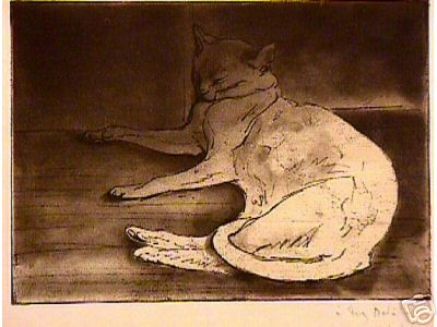 Cat etching - Theophile Steinlen