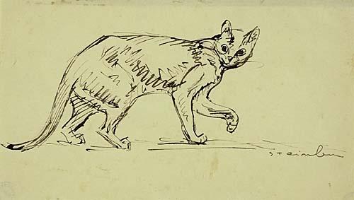 Cat Walking - Theophile Steinlen