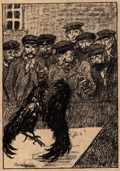 Combat de Coqs, 1907 - Theophile Steinlen