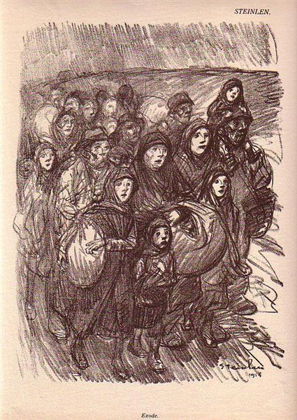 Exode, 1915 - Theophile Steinlen
