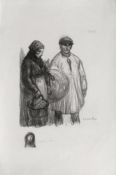 Gares, 1916 - Theophile Steinlen