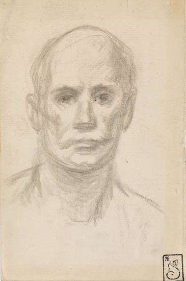 Head of Man - Theophile Steinlen