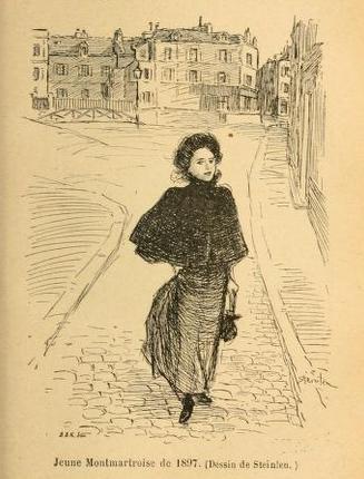 Illustration from Montmartre [par] Georges Renault et Henri Château - Theophile Steinlen