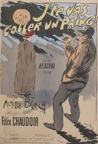 J'Te Vas Coller Un Paing, 1893 - Theophile Steinlen