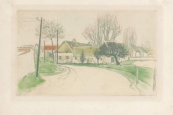 La Maison a L'Entree du Village, 1902 - Theophile Steinlen