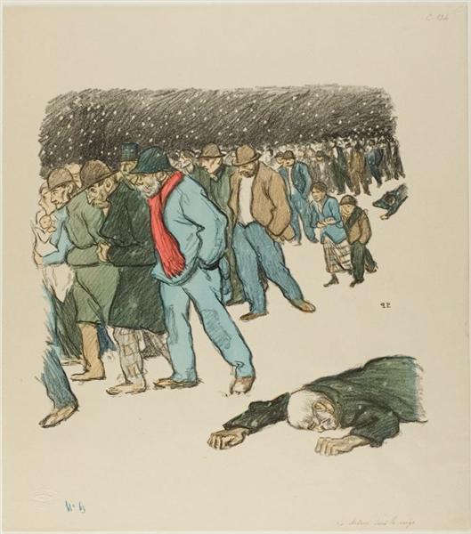 La Misere Sous La Neige, 1894 - Theophile Steinlen