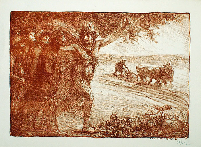 Les Agriculteurs Mutiles, 1916 - Theophile Steinlen