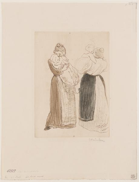 Les Deux Meres, 1903 - Theophile Steinlen