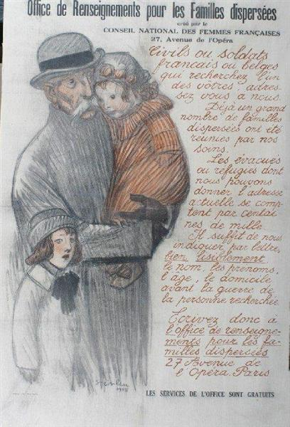 Les Familles Dispersees, 1915 - Theophile Steinlen