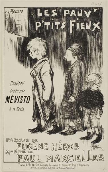 Les Pauv - Petits Fieux, 1892 - Théophile Alexandre Steinlen