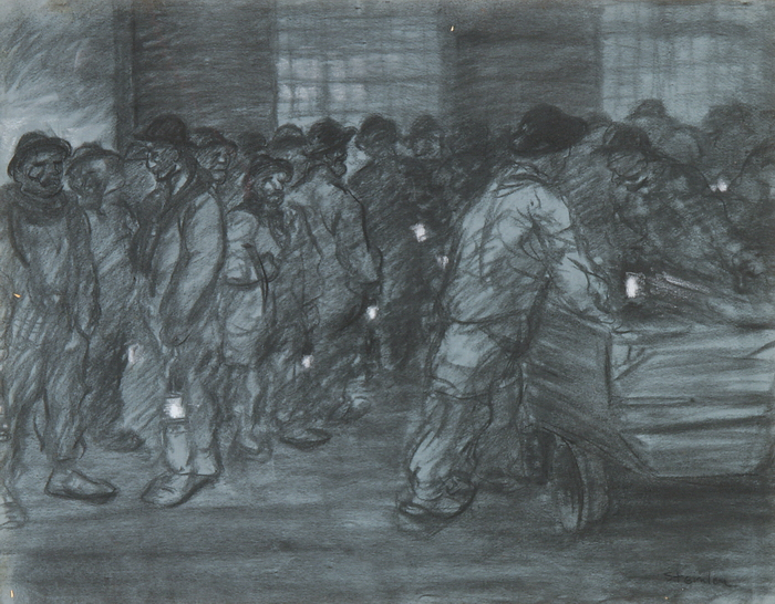 Miners with Lanterns - Theophile Steinlen