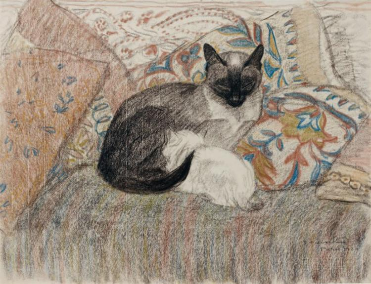 Mother Cat - Theophile Steinlen