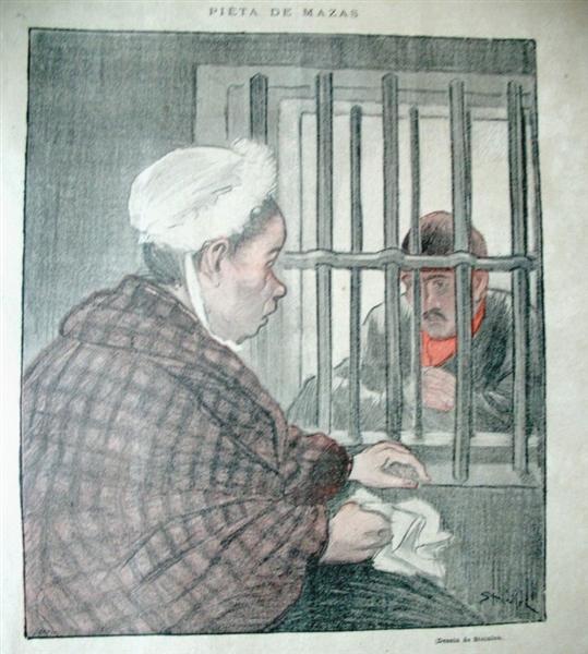 Pieta de Mazas, 1892 - Theophile Steinlen