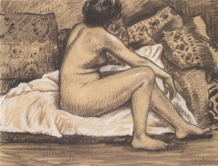 Seated Nude from Behind, 1905 - Theophile Steinlen