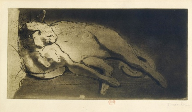Sleeping Cat, 1903 - Theophile Steinlen