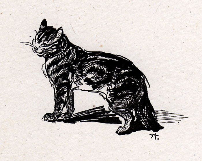 Smiling Cat - Theophile Steinlen