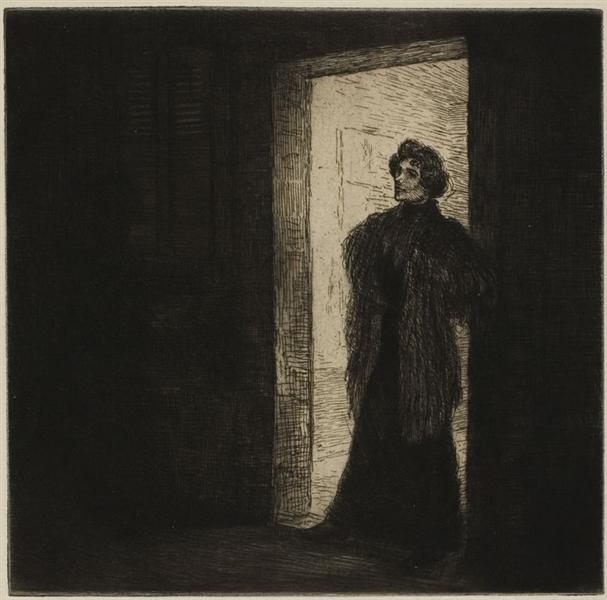 Sur Le Seuil, 1902 - Theophile Steinlen