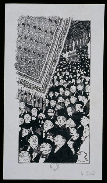 Tapis Clichy, 1898 - Théophile-Alexandre Steinlen