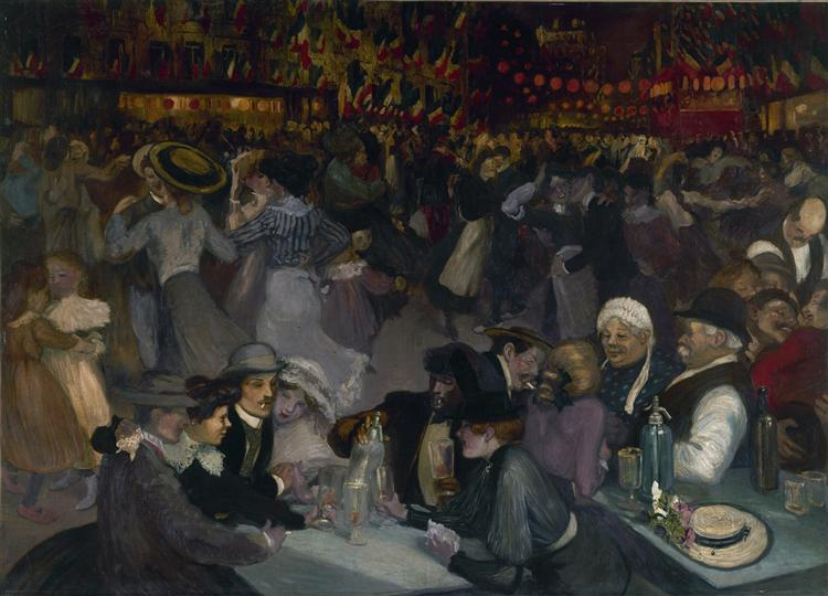 The Ball of July 14 - Théophile Alexandre Steinlen