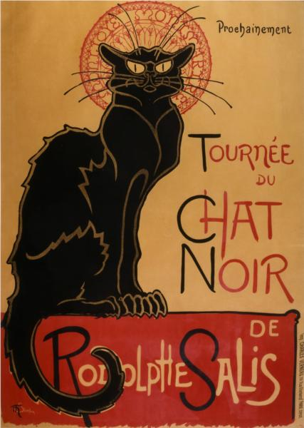 Tour of Rodolphe Salis' Chat Noir, 1896 - Theophile Steinlen