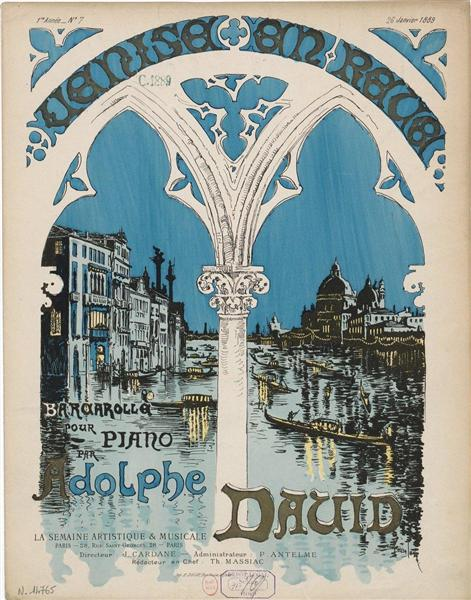 Venise en Reve, 1889 - Théophile Alexandre Steinlen